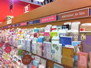 Greeting card aisle